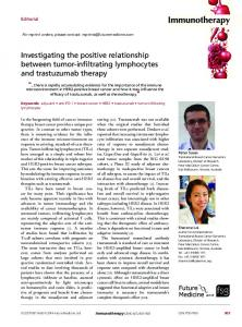 Investigating the positive relationship between tumor ...