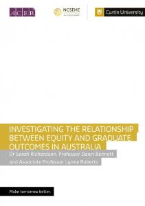 Investigating the Relationship between Equity and Graduate ...