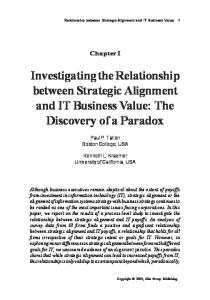 Investigating the Relationship between Strategic ... - CiteSeerX