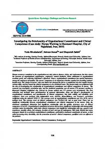 Investigating the Relationship of Organizational Commitment and ...