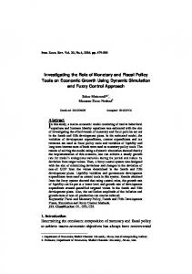 Investigating the Role of Monetary and Fiscal Policy Tools on ...