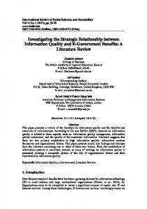 Investigating the Strategic Relationship between Information Quality ...