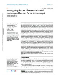 Investigating the use of curcumin-loaded electrospun