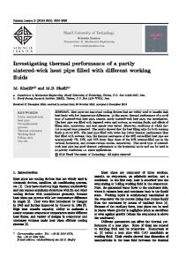 Investigating thermal performance of a partly sintered-wick heat pipe ...