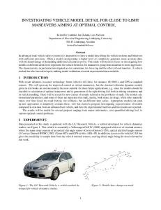 investigating vehicle model detail for close to limit ... - Vehicular Systems