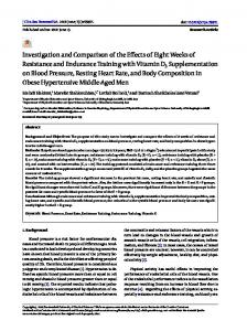 Investigation and Comparison of the Effects of Eight Weeks of
