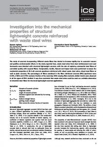 Investigation into the mechanical properties of structural ... - Core