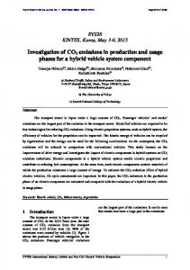 Investigation of CO2 emissions in production and usage ... - MDPI