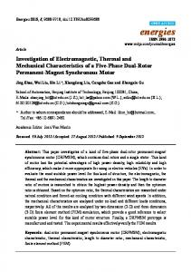 Investigation of Electromagnetic, Thermal and Mechanical ...