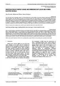 investigation of energy usage and emissions on ... - Semantic Scholar