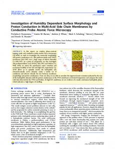 Investigation of Humidity Dependent Surface ... - ACS Publications
