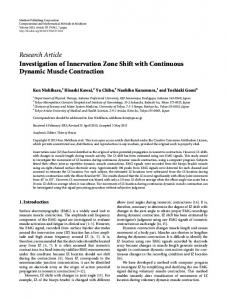 Investigation of Innervation Zone Shift with Continuous Dynamic