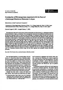 Investigation of Microorganisms Associated with the ...