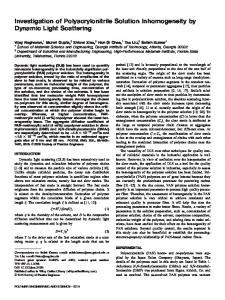 Investigation of polyacrylonitrile solution ... - Wiley Online Library