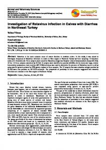Investigation of Rotavirus Infection in Calves with Diarrhea in ...