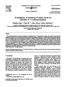 Investigation of scattering of elastic waves by ...