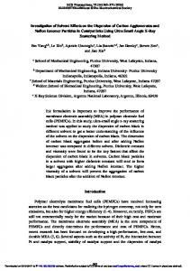 Investigation of Solvent Effects on the Dispersion of ...