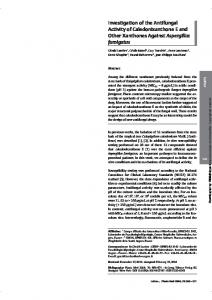 Investigation of the Antifungal Activity of ...