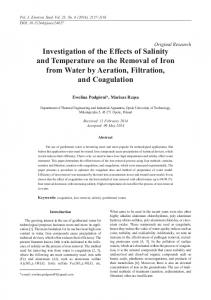 Investigation of the Effects of Salinity and Temperature on the ...