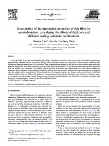 Investigation of the mechanical properties of thin films by ...