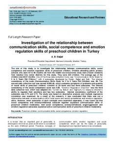 Investigation of the relationship between communication skills ... - Eric