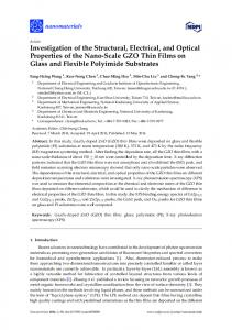 Investigation of the Structural, Electrical, and Optical Properties of the ...