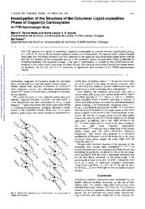 Investigation of the Structure of the Columnar Liquid-crystalline ... - Core