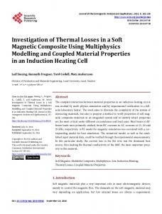 Investigation of Thermal Losses in a Soft Magnetic Composite Using ...