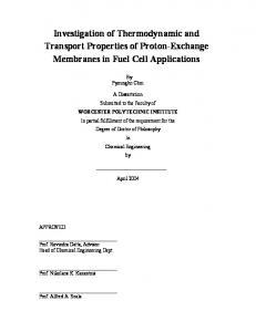 Investigation of Thermodynamic and Transport Properties of Proton ...