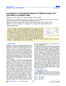 Investigation on Relaxational Behavior of ... - ACS Publications