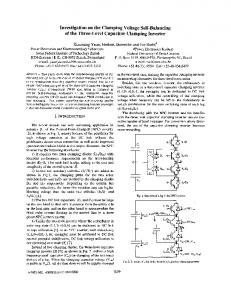 Investigation on the clamping voltage self-balancing of the ... - Ivo Barbi
