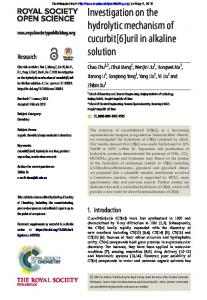 Investigation on the hydrolytic mechanism of cucurbit