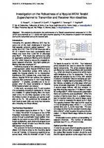 Investigation on the Robustness of a Nyquist-WDM ... - IEEE Xplore