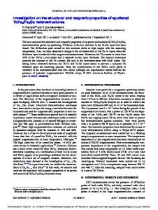 Investigation on the structural and magnetic properties of ... - Core