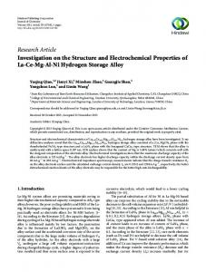 Investigation on the Structure and Electrochemical Properties of La-Ce ...