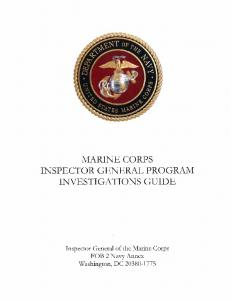 Investigations Guide Part 1 - Headquarters Marine Corps