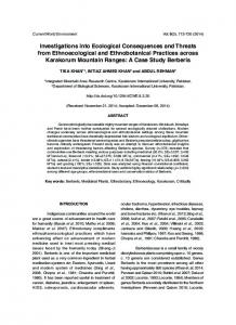 Investigations into Ecological Consequences and ... - Semantic Scholar