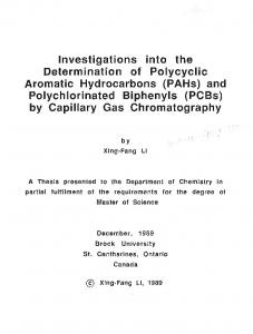 Investigations into the Determination of Polycyclic ...