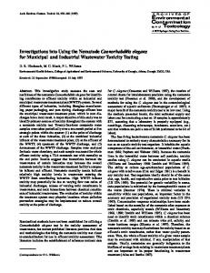 Investigations into Using the Nematode ... - Springer Link