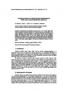 investigations of pyroelectric properties of pure and alanine doped tgs ...