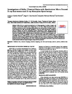 Investigations of Sulfur Chemical Status with ...