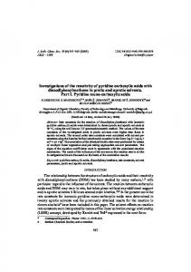 Investigations of the reactivity of pyridine carboxylic acids ... - doiSerbia