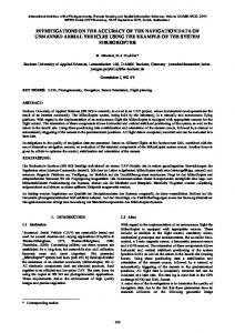 investigations on the accuracy of the navigation data ... - ISPRS Archives