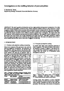 Investigations on the swelling behavior of pure anhydrites