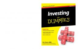 Investing for Dummies - Weebly