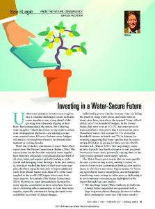 Investing in a Water-Secure Future
