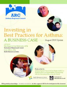 Investing in Best Practices for Asthma - Asthma Regional Council