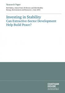 Investing in Stability - Chatham House
