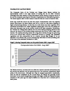 Investing in the Local Stock Market - WISE :: West Indies ...
