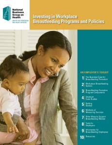 Investing in Workplace Breastfeeding Programs and Policies